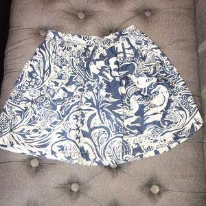 Blue and white Boden girls skirt